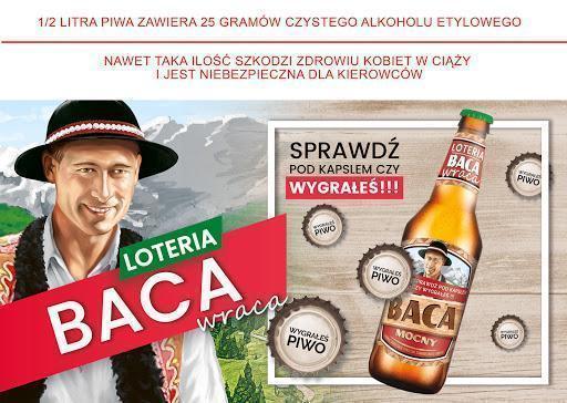Piwo Baca Mocny - baca loteria