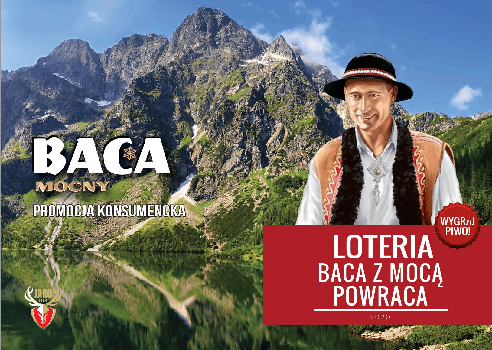 BACA Z MOCĄ POWRACA Nowa edycja promocji kapslowej 300 tys. piw do wygrania! - baca loteria