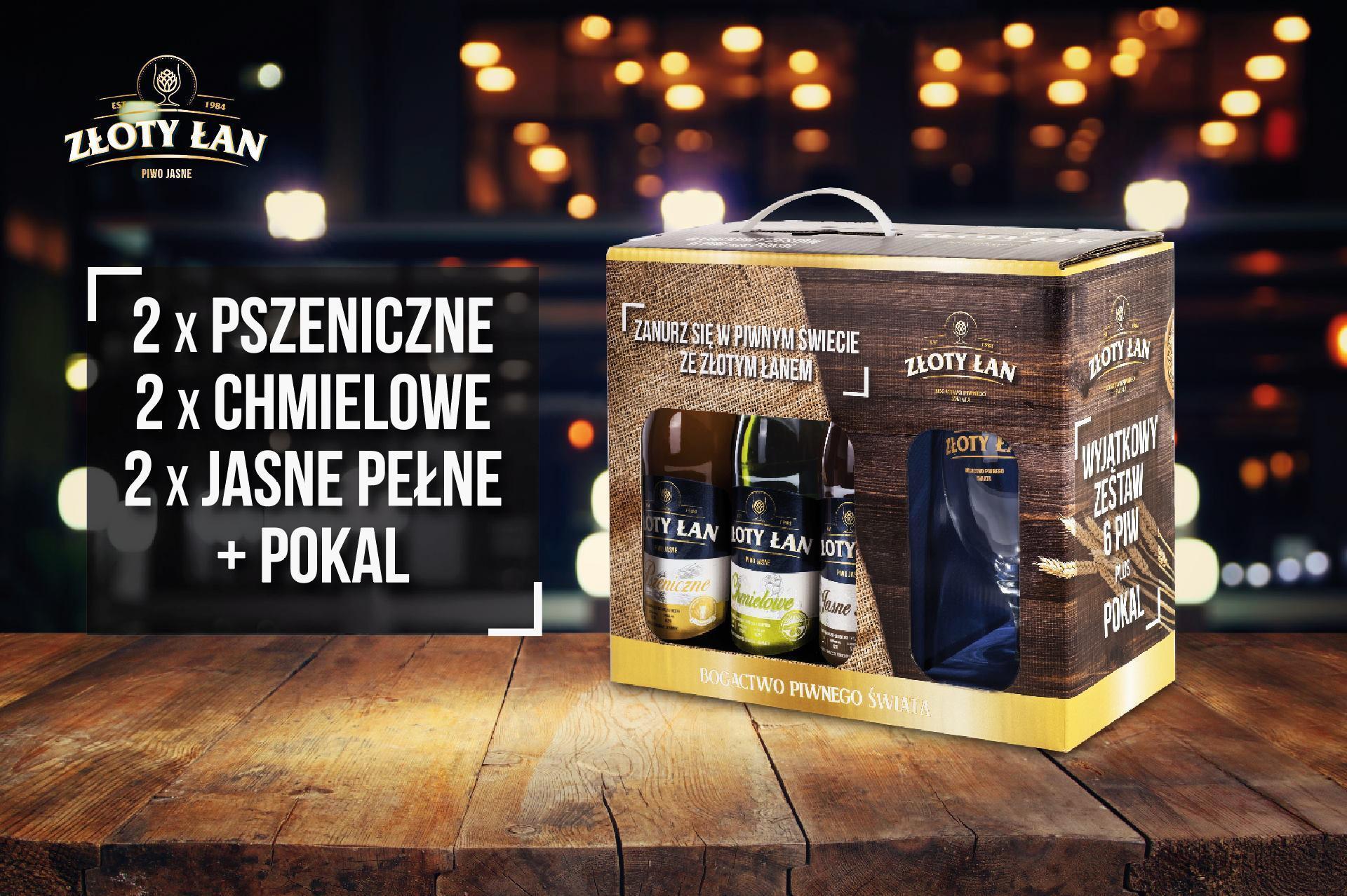 Piwo Złoty Łan - giftpack