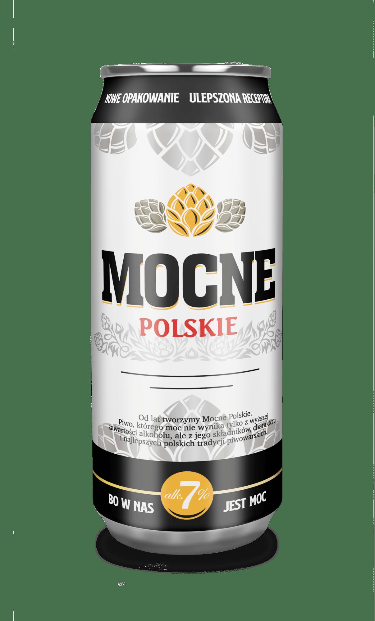 Piwo Mocne Polskie - mocne polskie puszka