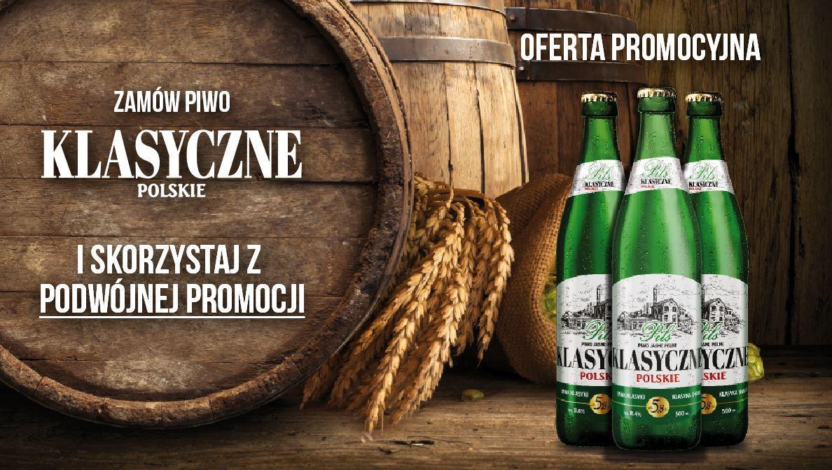 Podwójna promocja piwa Klasyczne Polskie! - pop upklasyk